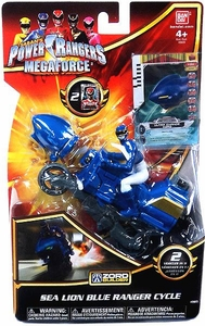 Power Rangers Megaforce Vehicle & Figure Blue Cycle with Blue Ranger