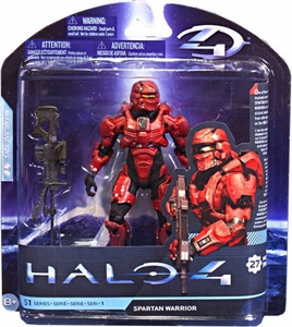 Halo 4 McFarlane Toys Series 1 Action Figure RED Spartan Warrior