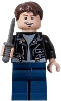 LEGO Indiana Jones LOOSE Mini Figure Mutt Williams with Gray Knife