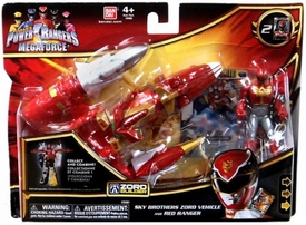 Power Rangers Megaforce Vehicle & Figure Sky Brothers Zord with Red Ranger