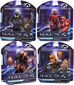 Halo 4 McFarlane Toys Series 1 Set of 4 Action Figures [Master Chief, Grunt Storm, Elite Zealot & RED Spartan Warrior]