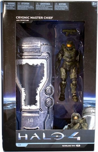 Halo 4 McFarlane Toys Deluxe Series 1 Action Figure Cryonic Master Chief with Cryotube