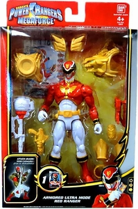 Power Rangers Megaforce Deluxe Action Figure Armored Ultra Mode Red Ranger