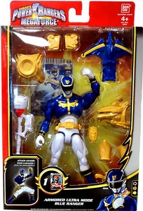 Power Rangers Megaforce Deluxe Action Figure Armored Ultra Mode Blue Ranger