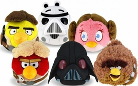 Angry Birds STAR WARS Set of 6 DELUXE 8 Inch Plush [Chewbacca, Han, Leia, Luke, Vader & Stormtrooper]
