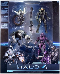 Halo 4 McFarlane Toys Series 1 Exclusive Action Figure 4-Pack Collector Box Set #2 [Master Chief, Spartan Soldier, Watcher & Crawler]