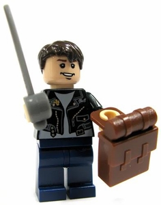 LEGO Indiana Jones LOOSE Mini Figure Mutt Williams with Sword and Backpack