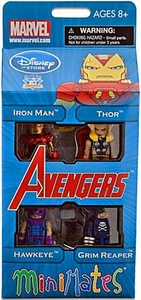 Diamond Select Toys Marvel Minimates Exclusive 4-Pack Avengers #2 [Iron Man, Thor, Hawkeye & Grim Reaper]