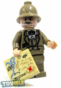 LEGO Indiana Jones LOOSE Mini Figure Dr. Henry Jones with Hat and Map