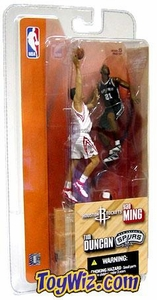 McFarlane Toys NBA 3 Inch Sports Picks Series 1 Mini Figures 2-Pack Yao Ming (Houston Rockets) & Tim Duncan (San Antonio Spurs)