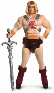Disguise Masters of the Universe Costume #31699 He-Man Muscle Chest [Adult XL]