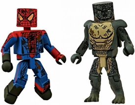 Marvel Minimates Amazing Spider-Man Movie 2012 SDCC San Diego Comic Con Exclusive 2-Pack Amazing Spider-Man Underground Battle Spider-Man & Underground Battle Lizard