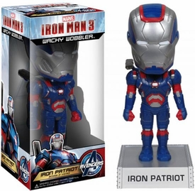 Funko Iron Man 3 Wacky Wobbler Bobble Head Iron Patriot