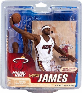 McFarlane Toys NBA Sports Picks Series 21 Action Figure LeBron James (Miami Heat) White Jersey