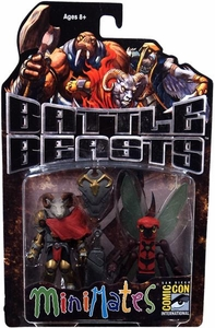 Diamond Select Toys Battle Beasts Minimates 2012 SDCC San Diego Comic Con Exclusive 2-Pack Vorin & Zik BLOWOUT SALE!