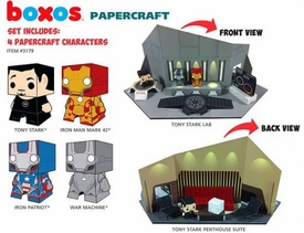 Funko Boxos Paprecraft Playset Iron Man 3 [Tony Stark, Iron Man Mark 42, Iron Patriot, Warmachine]