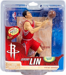 McFarlane Toys NBA Sports Picks Series 21 Action Figure Jeremy Lin (Houston Rockets) Red Jersey Collector Level Only 1,500 Made!