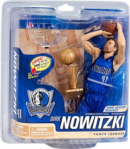 McFarlane Toys NBA Sports Picks Series 21 Action Figure Dirk Nowitzki (Dallas Mavericks) WITH Trophy Collector Level Only 1,000 Made!