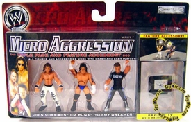 WWE Wrestling Micro Aggression Series 7 Figure 3-Pack John Morrison, CM Punk & Tommy Dreamer