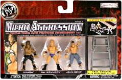 WWE Wrestling Micro Aggression Series 7 Figure 3-Pack Umaga, Mr. Kennedy & John Cena
