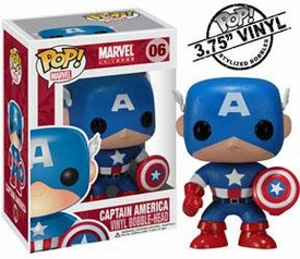 Funko POP! Marvel Vinyl Bobble Head Captain America Hot!