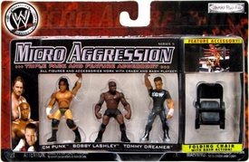 WWE Wrestling Micro Aggression Series 5 Figure 3-Pack CM Punk, Bobby Lashley & Tommy Dreamer