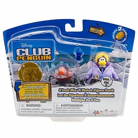 Disney Club Penguin Series 10 Mix 'N Match Mini Figure Pack Dot with Spy Phone & Headgear  [Includes Coin with Code!]