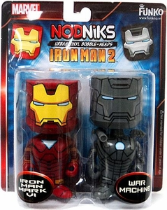 Funko Nodniks 3 3/4 Iron Man 2 Wobblers Iron Man Mark VI & War Machine