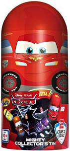 Mighty Beanz Disney Cars Tin Set Carry Case [Includes 2 Exclusive Beanz!]