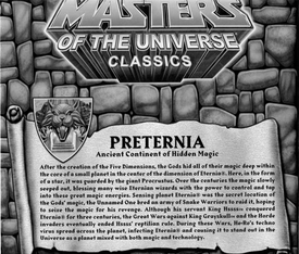 He-Man Masters of the Universe Classics Exclusive Map of Preternia