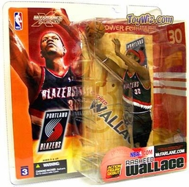 McFarlane Toys NBA Sports Picks Series 3 Action Figure Rasheed  Wallace (Portland Trailblazers) Black Jersey
