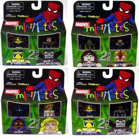 Marvel Minimates Series 23 Set of 4 Mini Figure 2-Packs [Includes Variant Mark II War Machine]
