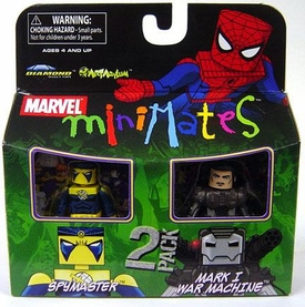 Marvel Minimates Series 23 Mini Figure 2-Pack Spymaster & Mark I  War Machine