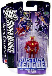 DC Super Heroes Justice League Unlimited Mini Metal Figure Flash [Purple Card]