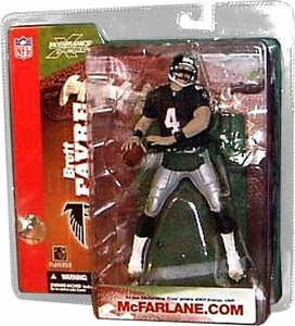 McFarlane Toys NFL Sports Picks Series 6 Action Figure Brett Favre (Atlanta Falcons) Retro Black Jersey With Handwarmers Variant