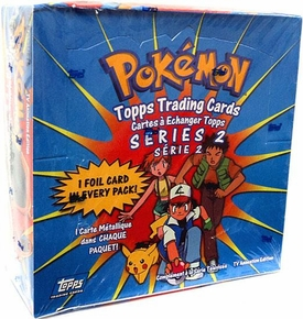 Topps Pokemon Trading Cards TV Animation Series 2 Trading Card Box [36 Packs]