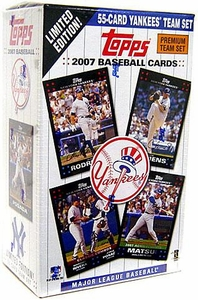 Topps MLB Baseball Cards 2007 New York Yankees Boxed Collector's Edition 55 Card Team Set
