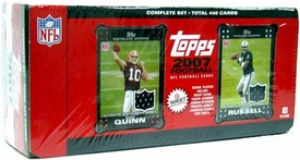 2007 NFL Topps Football Complete Factory Sealed Exclusive Set with Jamarcus Russel & Brady Quinn Jersey Cards