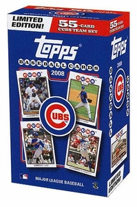 Topps MLB Baseball Cards 2008 Chicago Cubs Boxed Collector's Edition 55 Card Team Set