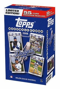 Topps MLB Baseball Cards 2008 Los Angeles Dodgers Boxed Collector's Edition 55 Card Team Set