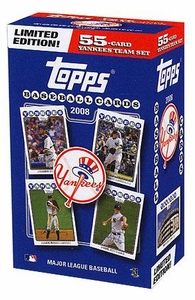 Topps MLB Baseball Cards 2008 New York Yankees Boxed Collector's Edition 55 Card Team Set