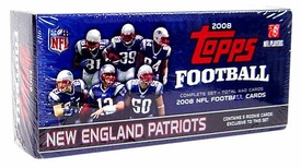 2008 NFL Topps Football Cards Complete Factory Sealed NEW ENGLAND PATRIOTS Set [Contains 5 Exclusive Rookie Cards]