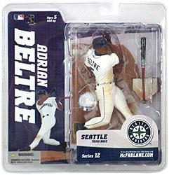 McFarlane Toys MLB Sports Picks Series 12 Action Figure Adrian Beltre (Seattle Mariners) White Jersey