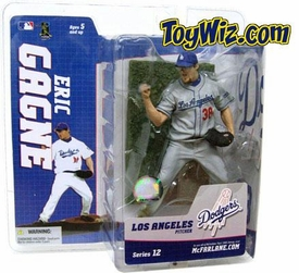 McFarlane Toys MLB Sports Picks Series 12 Action Figure Eric Gagne (Los Angeles Dodgers) Gray Jersey Variant