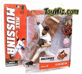 McFarlane Toys MLB Sports Picks Series 12 Action Figure Mike Mussina (Baltimore Orioles) White Jersey Variant