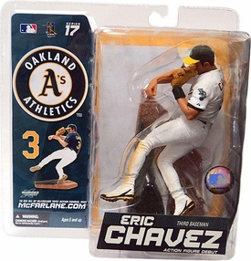 McFarlane Toys MLB Sports Picks Series 17 Exclusive Action Figure Eric Chavez (Oakland Athletics) White Jersey Variant
