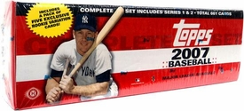 Topps MLB 2007 Baseball Cards Complete Hobby Factory Sealed Set (HOBBY EDITION)
