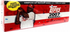 Topps MLB 2007 Baseball Cards Complete Hobby Factory Sealed Set [RETAIL EDITION]