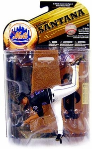 McFarlane Toys MLB Sports Picks Series 24 [2009 Wave 1] Action Figure Johan Santana (New York Mets) Black Jersey
