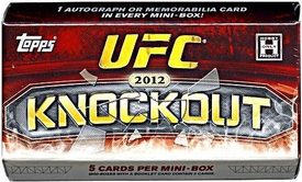 Topps UFC Ultimate Fighting Championship 2012 Knockout Trading Card Pack [1 Autograph OR Memorabilia Card In Every Mini-Box Pack!]